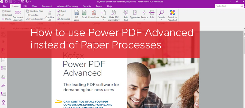 How to use Power PDF Advanced instead of Paper Processes