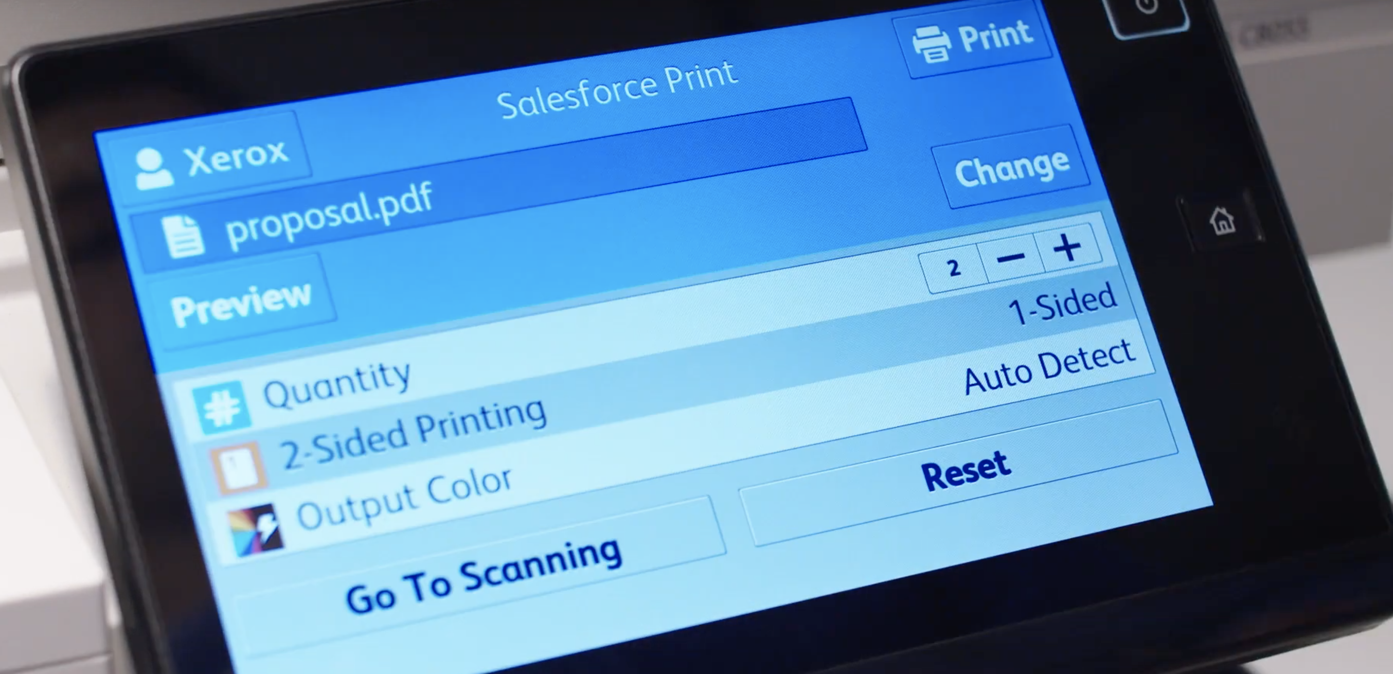 Xerox MFP Salesforce App