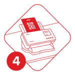 Scan at Home Step 4 (Numbered)