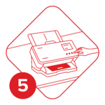 Scan at Home Step 5 (Numbered)